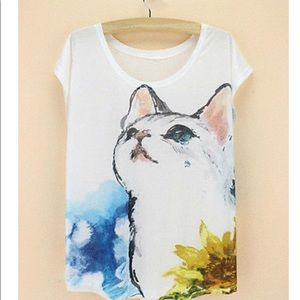 Tops - BRAND NEW BEAUTIFUL CAT 🐱 T-SHIRT (LAST ONE!)
